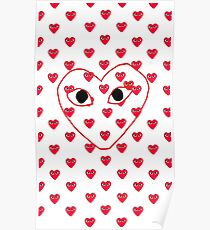 love comme des garcons red Play Poster