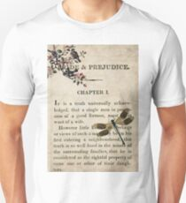 Pride and Prejudice Watercolour Tribute First Page Unisex T-Shirt