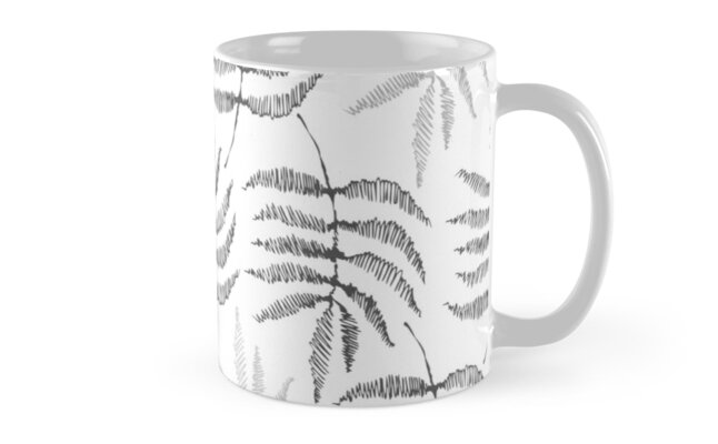 Drawing of a fern leaves by Nata-V
