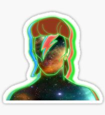 STARMAN/ Neon nostalgia tribute Sticker