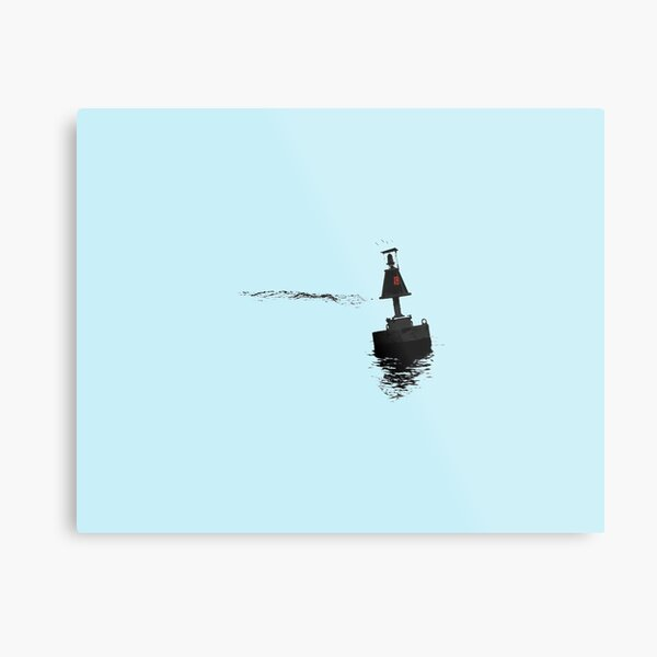 Buoy 18 with blue background Metal Print