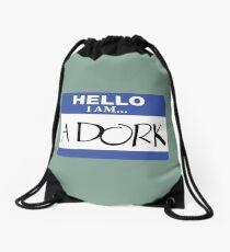 Hello I am a dork Drawstring Bag