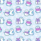 Winter Penguins // Blue by nikury