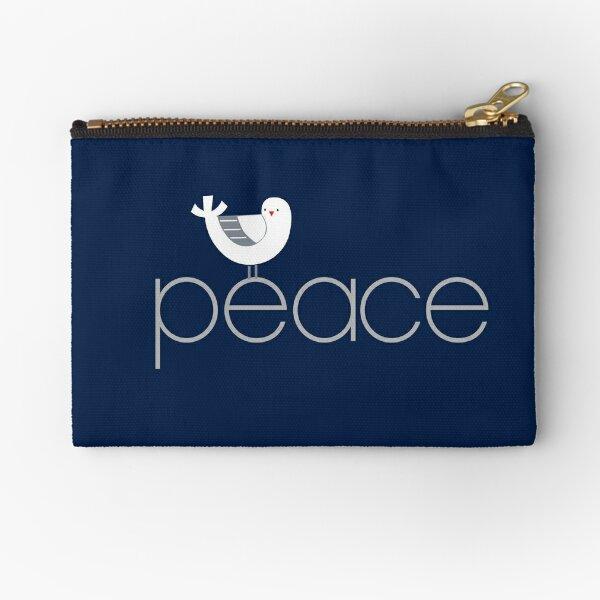 Peace Bird Zipper Pouch