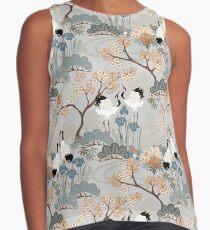 Blusa sin mangas Jardín japonés gris