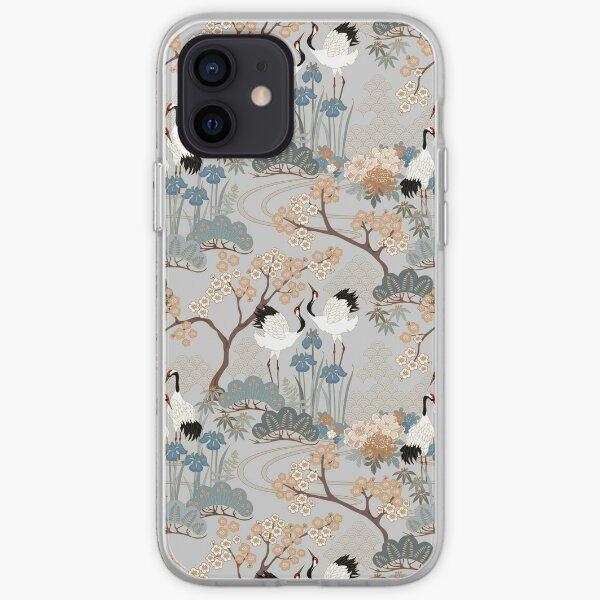 Jardin japonais gris Coque souple iPhone