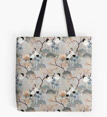 Japanese Garden Gray Tote Bag
