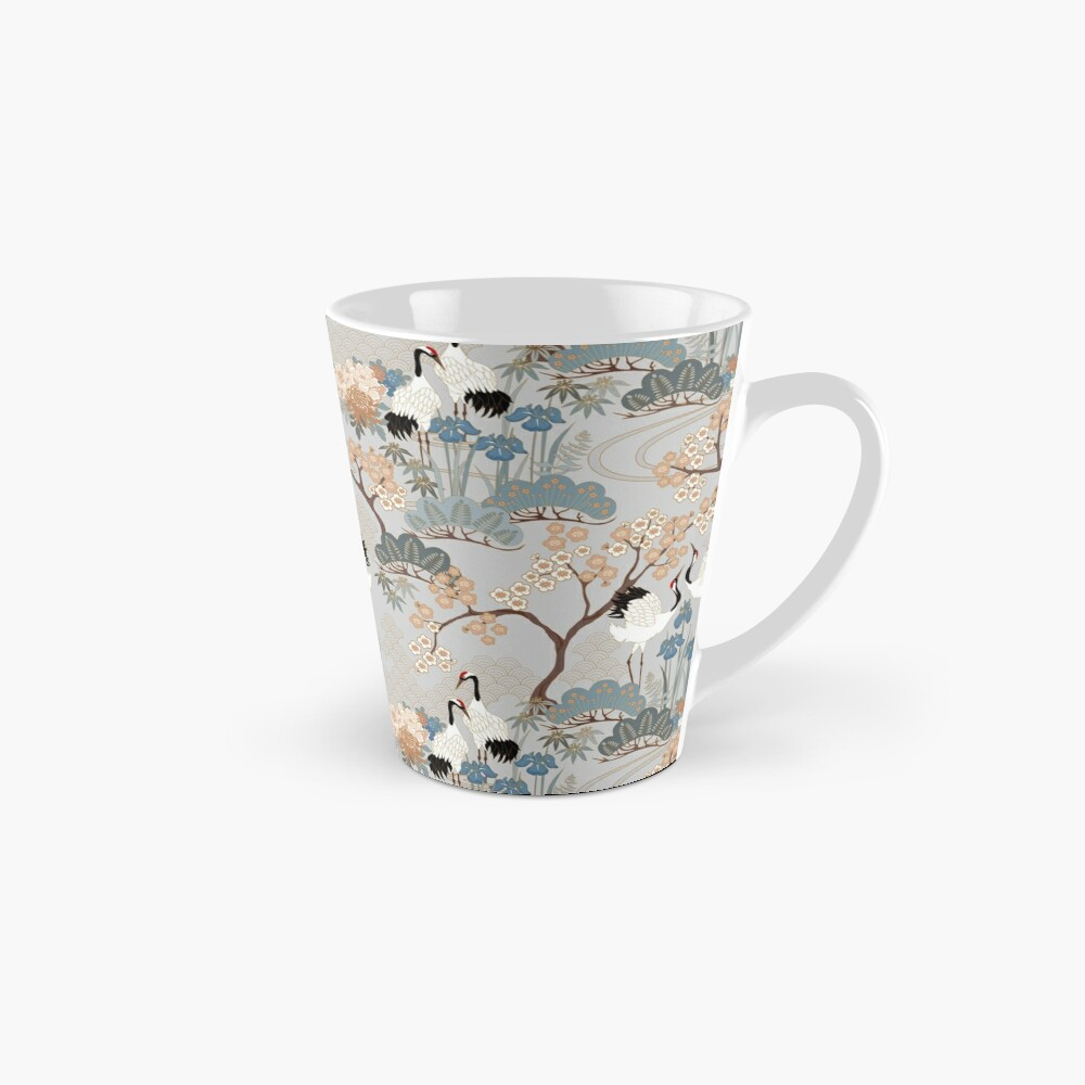 Japanese Garden Gray Tall Mug