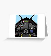 Airplane cockpit Greeting Card