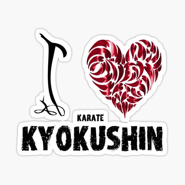 Kyokushin Karate T shirt I love Sticker