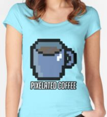 Pixelated Coffee's Logo! Women's Fitted Scoop T-Shirt