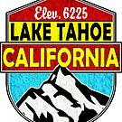 Lake Tahoe California Skiing Boating Boat Ski Skier Snowboard Laptop by MyHandmadeSigns