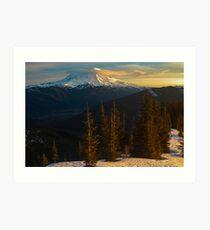 Sunrise View of Mount Rainier Art Print