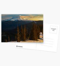 Sunrise View of Mount Rainier Postcards