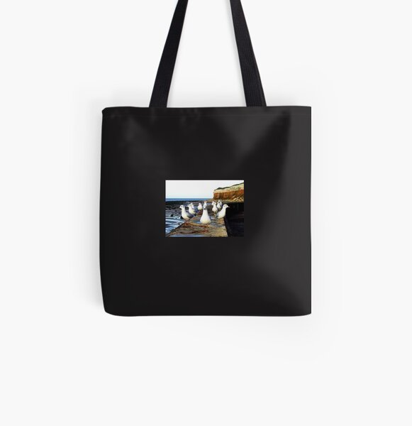 A Curiosity of Seagulls.  All Over Print Tote Bag