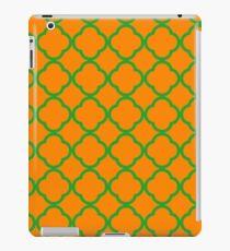 Orange and Green Quatrefoil Pattern iPad Case/Skin