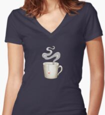 Tea is Love Women's Fitted V-Neck T-Shirt