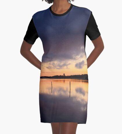 Oulu sunset Graphic T-Shirt Dress