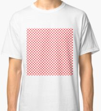Large Red Christmas Love Hearts Classic T-Shirt