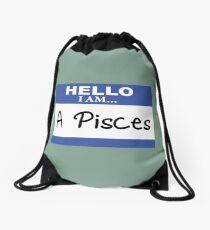 Hello I am a Pisces Drawstring Bag