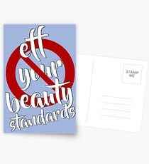 Eff Your Beauty Standards Postcards