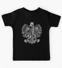 Poland Eagle National Polska Black & White Kids Clothes