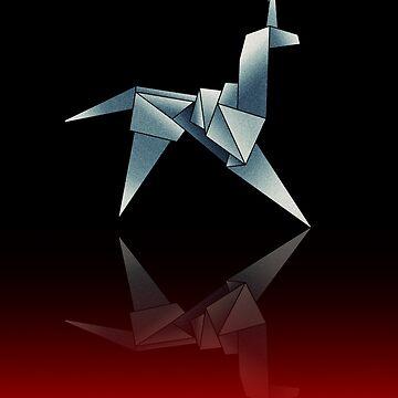 Origami unicorn V.2 by sonorosan