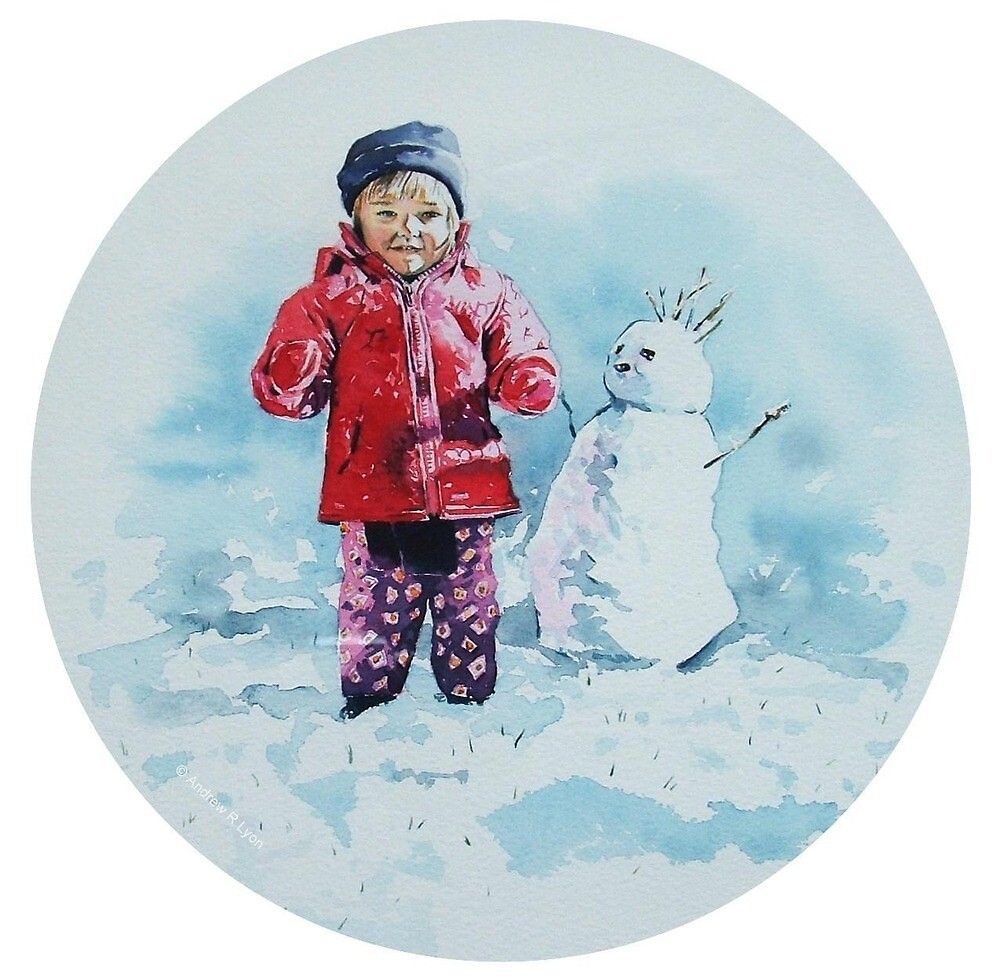 Sophie and her Snowman by Andrew Lyon