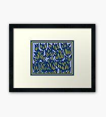 Escalade Flowers Yellow Blue Framed Print