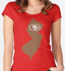 New Jersey 49ers Fans Women's Fitted Scoop T-Shirt