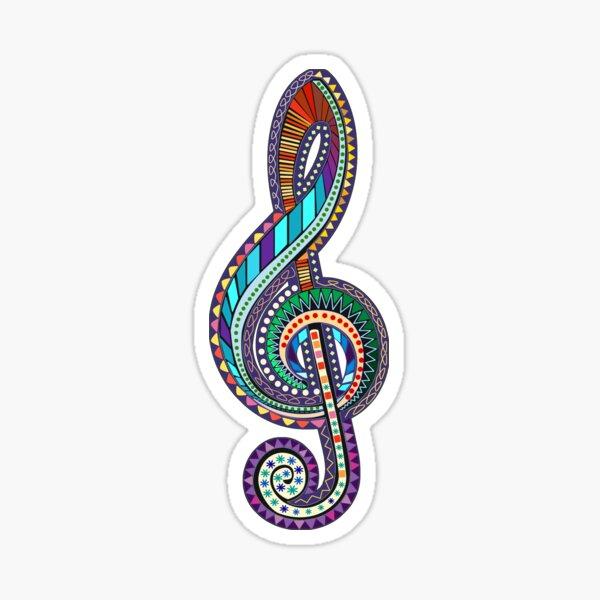 Carnival Treble Clef - Music Annotation Sticker