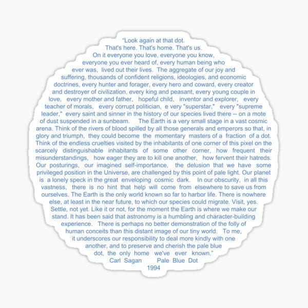 Pale Blue Dot Sticker