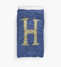 Knitted 'H' Duvet Cover