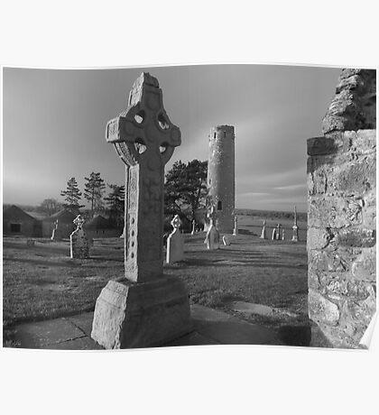 Clonmacnoise Celtic cross 2 Poster