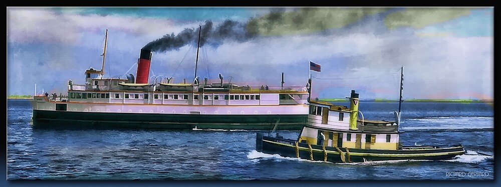 SS Olympic and Tug by Richard  Gerhard