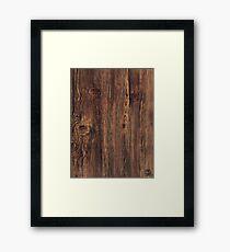 oak texture  Framed Print