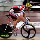 Track Cyclist by Gino Iori