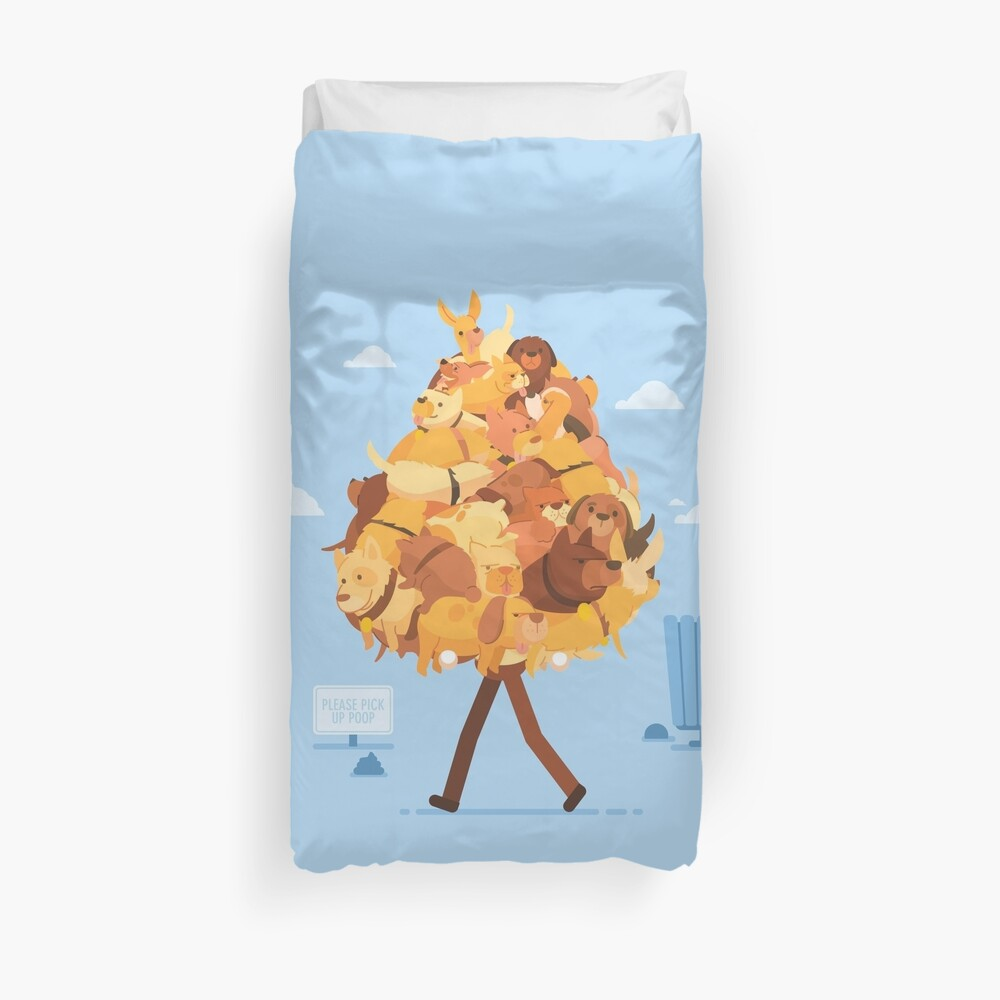 Dog Collector Duvet Cover