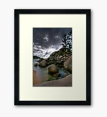 Granitized Viewpoint Framed Print