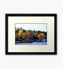Lake Muskoka Boathouses Framed Print