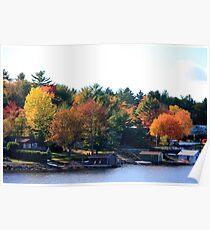 Lake Muskoka Boathouses Poster