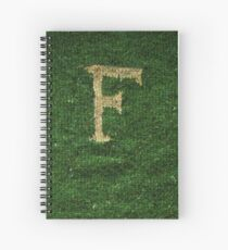 Knitted 'F' Spiral Notebook