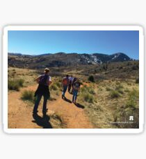 Hiking Red Rocks Sticker