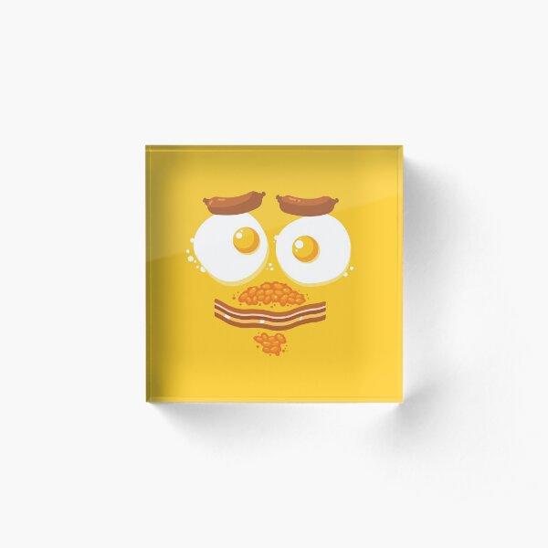 Breakfast Face Acrylic Block