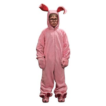 Ralphie The Christmas Story Movie Pink Easter Bunny PJs by starkle