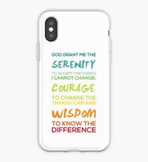 Serenity Prayer Graphic iPhone Case