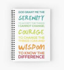 Serenity Prayer Graphic Spiral Notebook