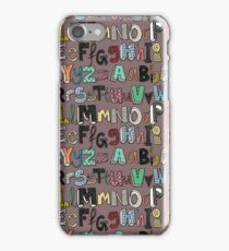 ABC mocha multi iPhone Case/Skin