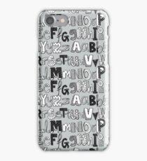 ABC silver iPhone Case/Skin