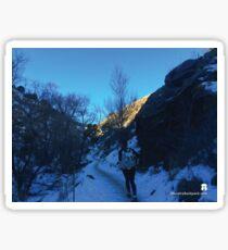 Mountain Valley Shadows Sticker